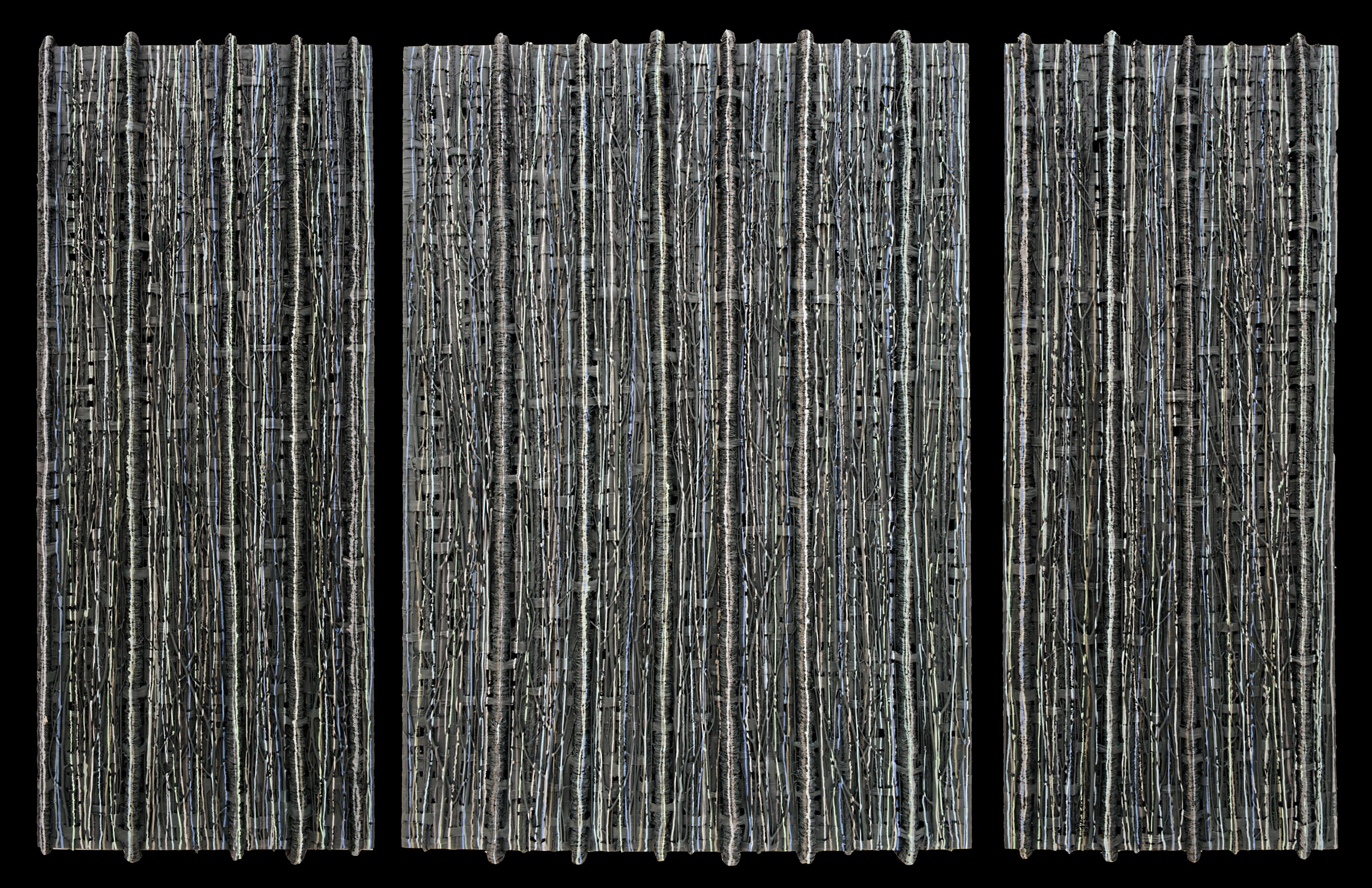 Grey Gardens Triptych, Series 1 by Leah Gillette
